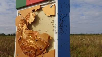 Білорусь заявила, що її прикордонний знак обстріляли з України