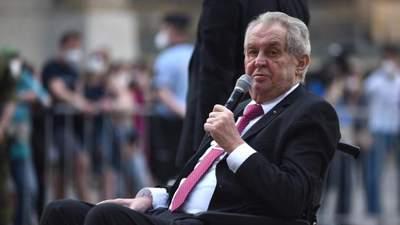 У Чехії розповіли про самопочуття президента після госпіталізації