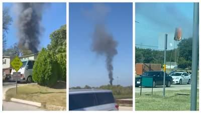 В жилом районе в Техасе разбился военный учебный самолет