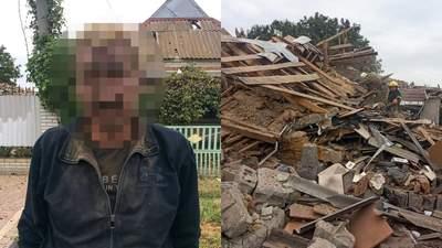 Хотів померти, але вижив: на Запоріжжі чоловік підірвав власний будинок
