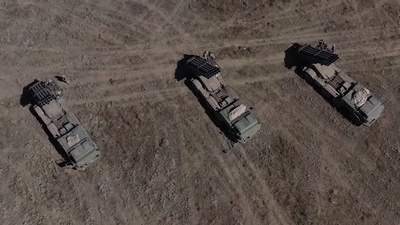 Реактивная артиллерия тренировалась отражать нападение с крымского направления
