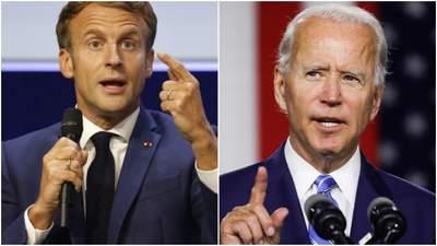Байден і Макрон обговорили скандал з підводними човнами: посол Франції повернеться до США