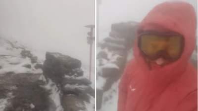 Холод, снег и порывистый ветер: спасатели показали кадры с Карпат и просят не идти в горы