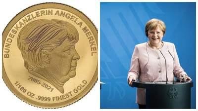 У Німеччині випустили золоті монети з портретом Меркель