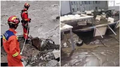 Масштабные дожди спровоцировали оползень в Китае: есть погибшие и пропавшие без вести