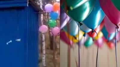 С воздушными шариками и плакатом: в России торжественно открыли деревянный уличный туалет