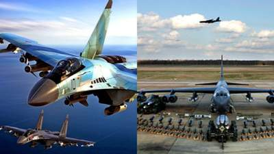 Росія заявила про перехоплення бомбардувальника США над Тихим океаном