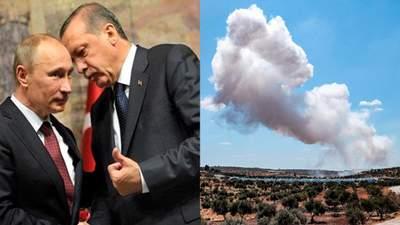 Перед зустріччю Путіна та Ердогана: Росія посилила удари в Сирії, а Туреччина нарощує сили