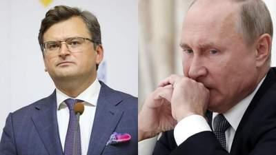 """Кулеба різко відповів Путіну на слова про перетин """"червоних ліній"""" через прихід НАТО"""