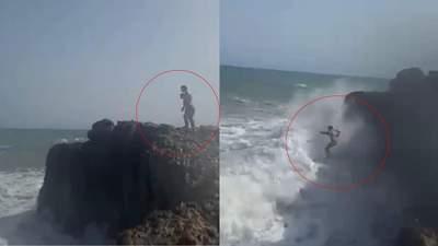 В Испании парень бросился в штормовое море за подругой: оба утонули – жуткое видео