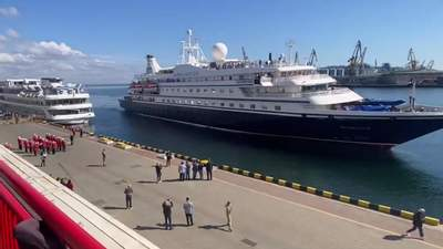 До Одеси вперше за 2 роки прибув круїзний лайнер із іноземцями