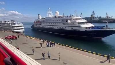 В Одессу впервые за 2 года прибыл круизный лайнер с иностранцами