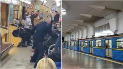 Машиниста метро в Харькове,  который избил пьяного пассажира, отстранили от работы