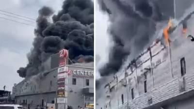 В израильском ТРЦ вспыхнул пожар: часть здания рухнула, есть пострадавшие