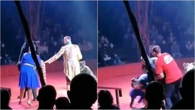 У Росії ведмідь накинувся на вагітну асистентку дресирувальника в цирку: моторошне відео