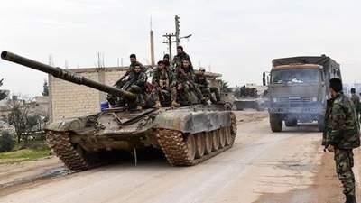 После заявлений Эрдогана Асад отправил артиллерию и танки в Алеппо