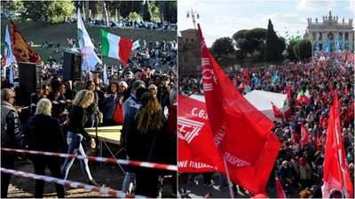 В Риме десятки тысяч итальянцев требовали запретить ультраправую партию