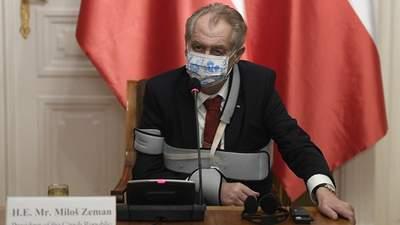 Президент Чехії Земан більше не може виконувати обов'язки через стан здоров'я