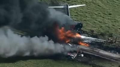 В Техасе разбился самолет: пассажиры и экипаж чудом выжили