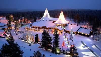 В Лапландии засыпало снегом поселок Санта-Клауса: сказочное видео