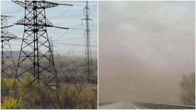 Прямо посреди осени Кривой Рог накрыла пылевая буря