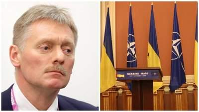 В Кремле заявили, что не против вступления Украины в НАТО, но боятся последствий