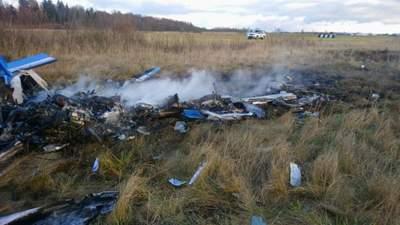 Під Москвою розбився легкомоторний літак: відео з місця катастрофи