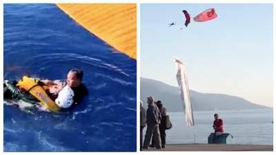 Сорвалась с парашюта: на фестивале в Турции в море упала украинка