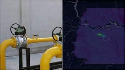 На газопроводі в Росії стався викид метану: його помітили на знімках з космосу