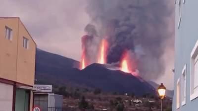 Гигантский лавовый фонтан: извержение вулкана на Канарах усилилось