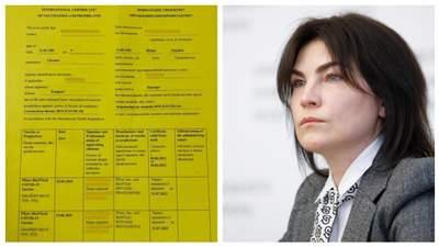 Венедіктова назвала мерзотниками людей із підробленими сертифікатами про вакцинацію