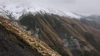 Высокогорный район Грузии отрезан от мира из-за сильного снегопада
