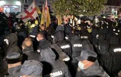 В Тбилиси есть задержанные во время протестов: что происходит в Грузии 9 ноября – фото, видео
