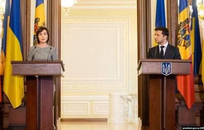 Зеленський привітав Санду з перемогою на виборах президента Молдови