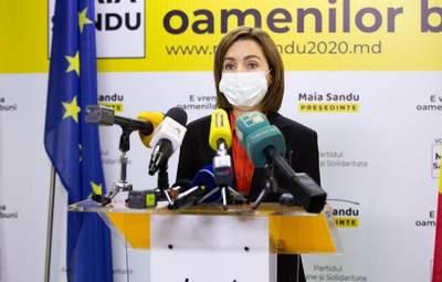 Санду хочет отставки правительства и досрочных парламентских выборов в Молдове