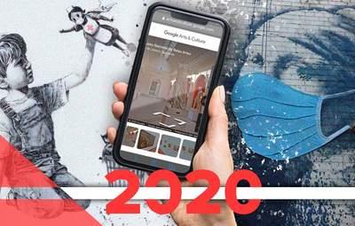 Культура в мире в 2020 году: лучшие работы Бэнкси, онлайн-музеи и виртуальные туры