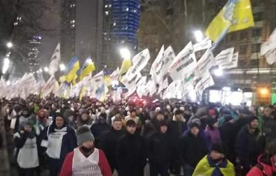 Протести ФОПів у Києві: мітингувальники прийшли до друзів Зеленського