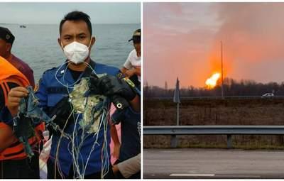 Головні новини 9 січня: катастрофа літака в Індонезії, вибух на газопроводі в Лубнах