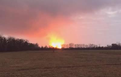 Пожар на газопроводе в Полтавской области: рассматривают возможность диверсии