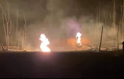 Факельне горіння до 1 метра та розгерметизація: що відбувається на місці вибуху газу у Лубнах