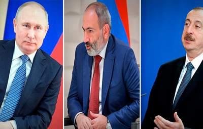 Поговорят о Нагорном Карабахе: Путин встретится с Алиевым и Пашиняном