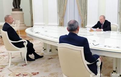 Путін, Алієв та Пашинян поговорили про Нагірний Карабах у Москві: які камені спотикання