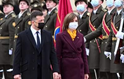 Зеленский и Санду выразили свою позицию по Донбассу и Приднестровью