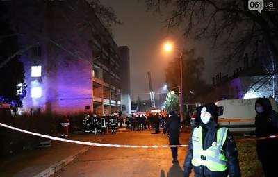 Пожар в запорожской больнице: каково состояние пациентов, которых удалось спасти