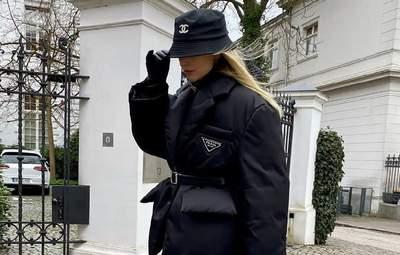Панама Chanel та трендовий пуховик Prada: Леоні Ганне показує стильний зимовий аутфіт