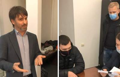 К соорганизаторам протеста за Стерненко пришла полиция с протоколом: говорят, хотели в туалет