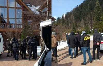 Дачу Медведчука на Закарпатье обыскали: фото и видео