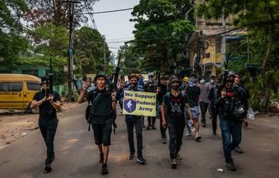 На протестах в Мьянме убили по меньшей мере 550 человек