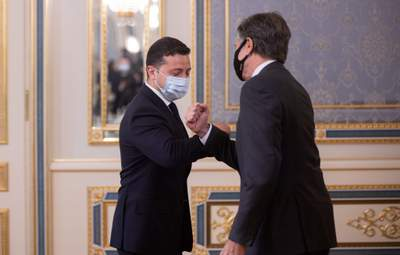 Є одна ідея, – Зеленський і Блінкен обговорили ситуацію в Чорному й Азовському морях