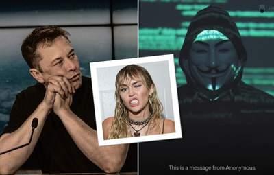 """Ілон Маск продовжує """"тролити"""" хакерів Anonymous: до чого тут Майлі Сайрус"""